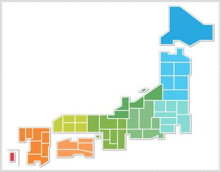 エリア別日本地図